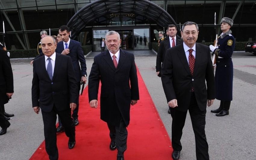 İordaniyanın Kralı II Abdullahın Azərbaycana rəsmi səfəri başa çatıb