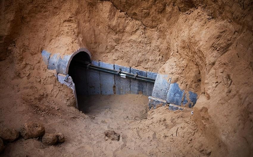İsrail ordusu Qəzza zolağından qazılmış tuneli məhv edib