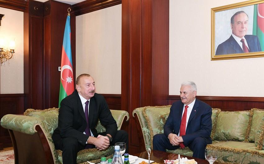 Президент Ильхам Алиев встретился с Бинали Йылдырымом - ОБНОВЛЕНО