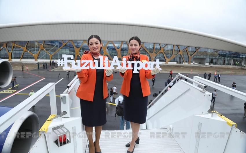 Qarabağın ilk beynəlxalq hava limanından reportaj