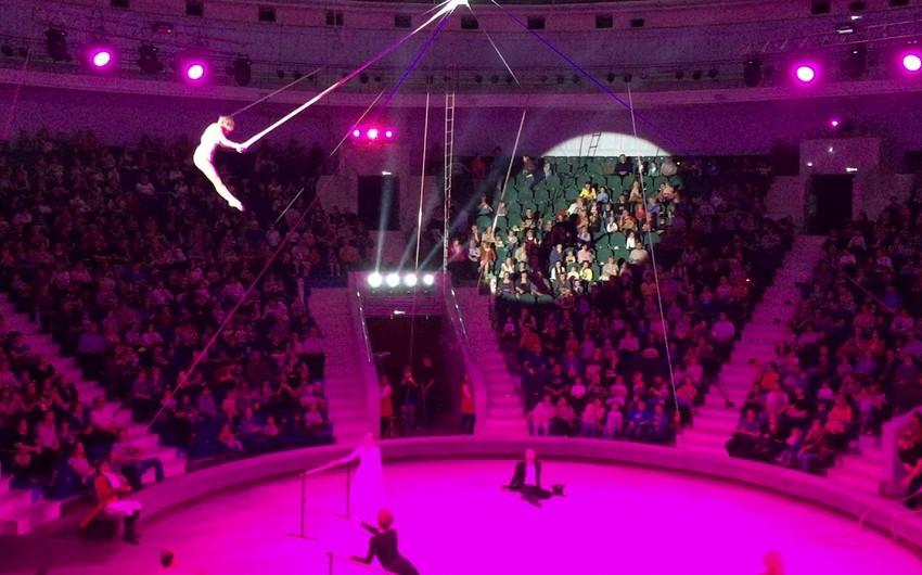 Rusiyada akrobat sirkdə çıxış zamanı yüksəklikdən yerə yıxılıb - VİDEO