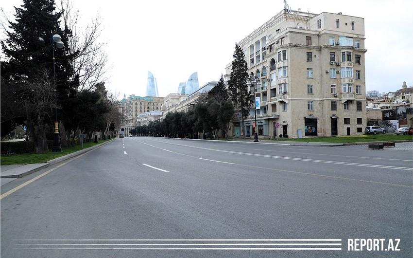 Особый карантинный режим в Баку - ФОТОРЕПОРТАЖ