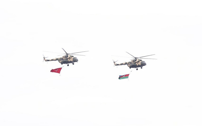 Azerbaijani-Turkish drills involve 1000 personnel, nearly 20 combat helicopters