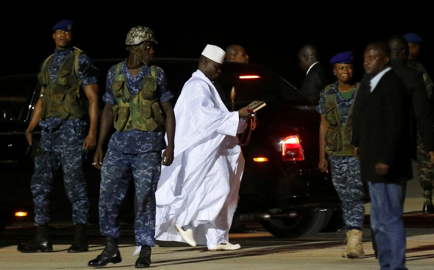 New Gambia president to back in country