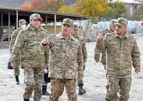 Zakir Hasanov inspects winter readiness of military units in Kalbajar and Lachin