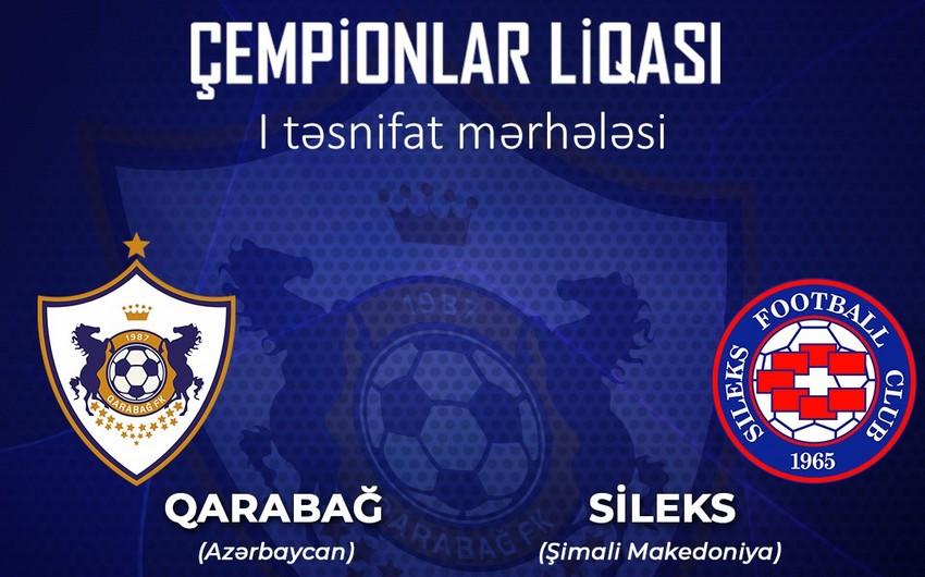 Qarabağ UEFA Çempionlar Liqasında mübarizəyə başlayır