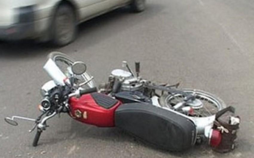 Xırdalanda 27 yaşlı motosiklet sürücüsü qəza törədib