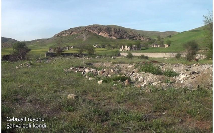 Видеокадры из села Шахвеледли Джебраильского района