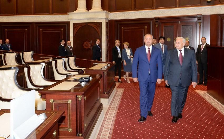 Moldova Prezidenti Milli Məclisdə olub
