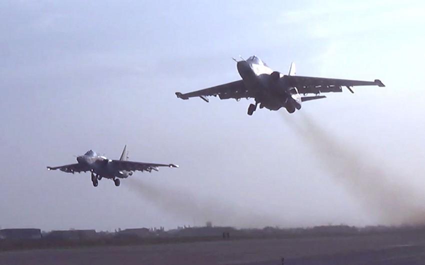 Авиаудары Су-25 и боевых вертолётов по врагу в ходе Отечественной войны