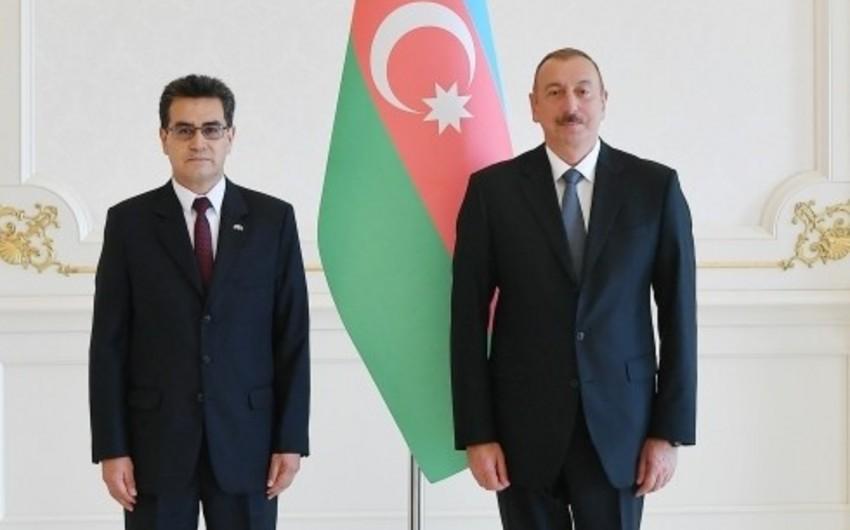 Prezident İlham Əliyev üç ölkənin yeni səfirlərinin etimadnaməsini qəbul edib