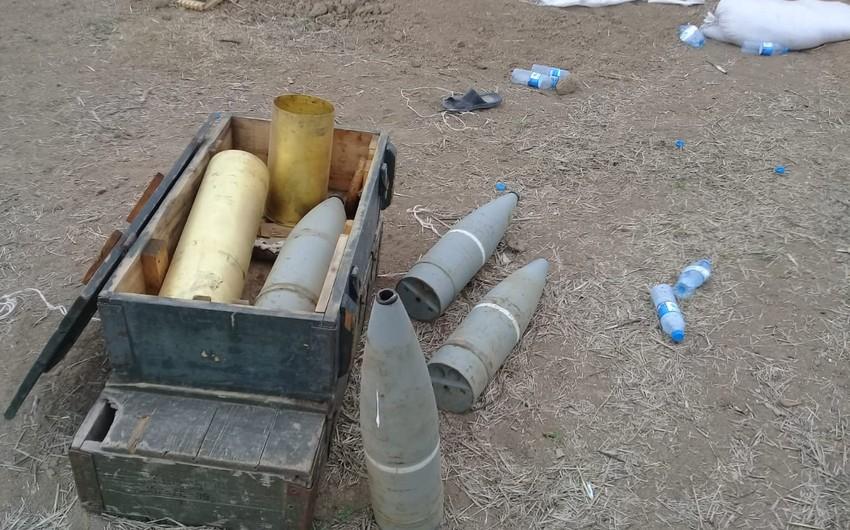 Обнаружены 55 неразорвавшихся армянских снарядов