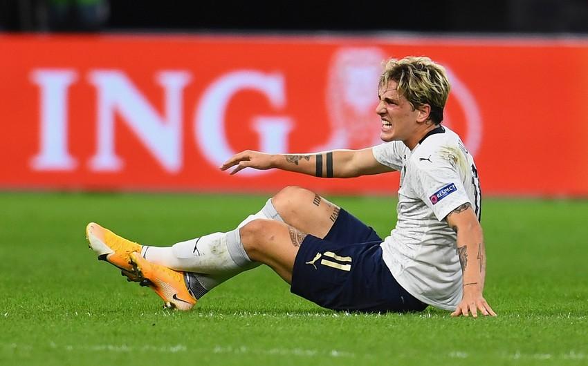 İtaliya yığmasının futbolçusu ciddi zədə ilə üzləşdi