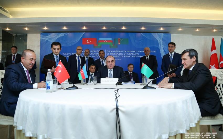 Azərbaycan, Türkiyə və Türkmənistanın XİN başçılarının görüşünün yekunu üzrə bəyannamə imzalanıb