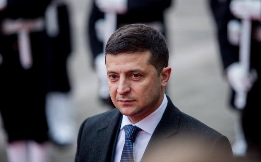 """Zelenski:""""Tbilisi-Kiyev siyasi dialoqu yeni impuls əldə edir"""""""