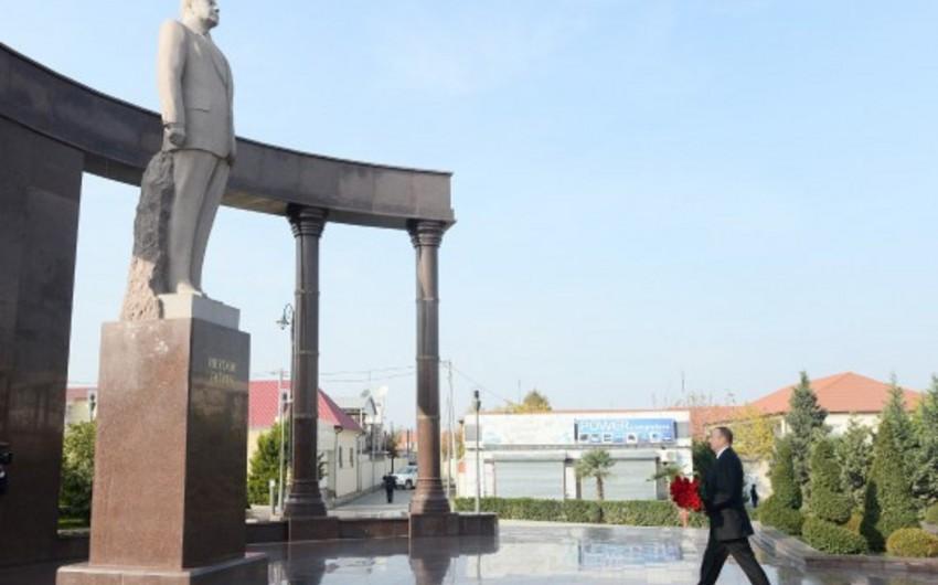 Президент Азербайджана прибыл в Шамкирский район