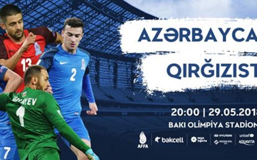 Azərbaycan - Qırğızıstan matçının başlama saatı müəyyənləşib