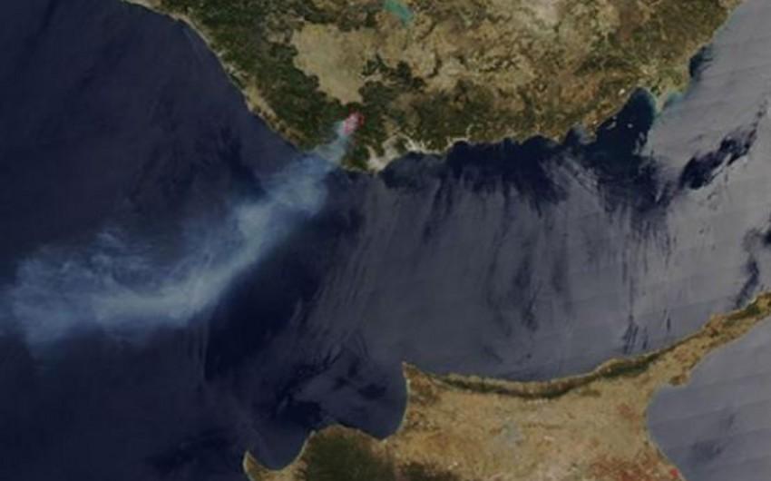 NASA Türkiyədəki meşə yanğınlarının fəzadan çəkilmiş şəklini yayıb