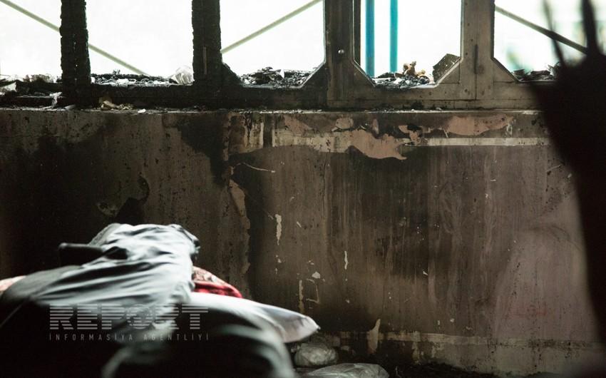 Zığ şossesindəki binanın yanma səbəbləri və dəymiş ziyan dəqiqləşməyib - REPORTAJ