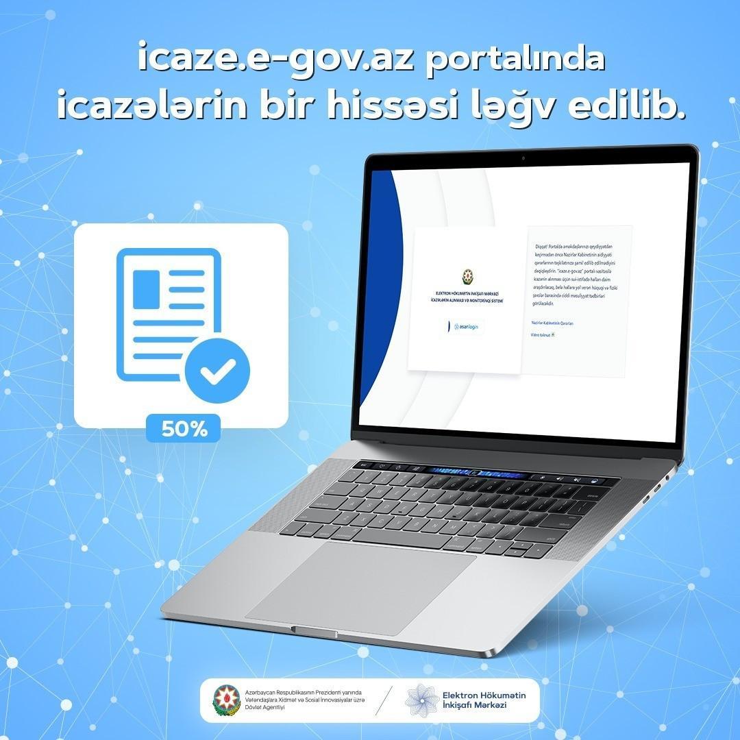 ASAN xidmət: İcaze.e-gov.az portalında icazələrin bir hissəsi ləğv edilib