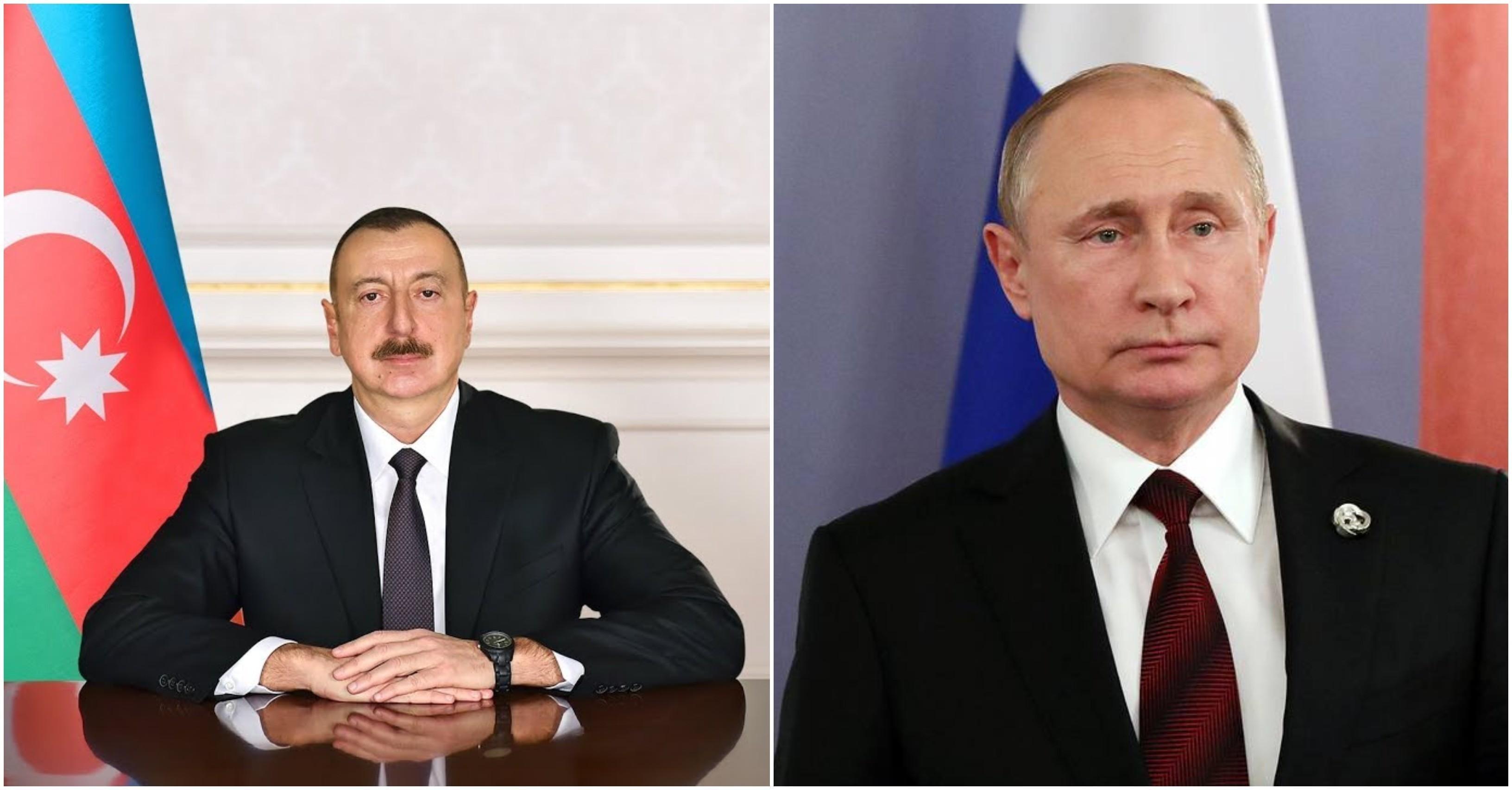 Ильхам Алиев выразил соболезнования Владимиру Путину