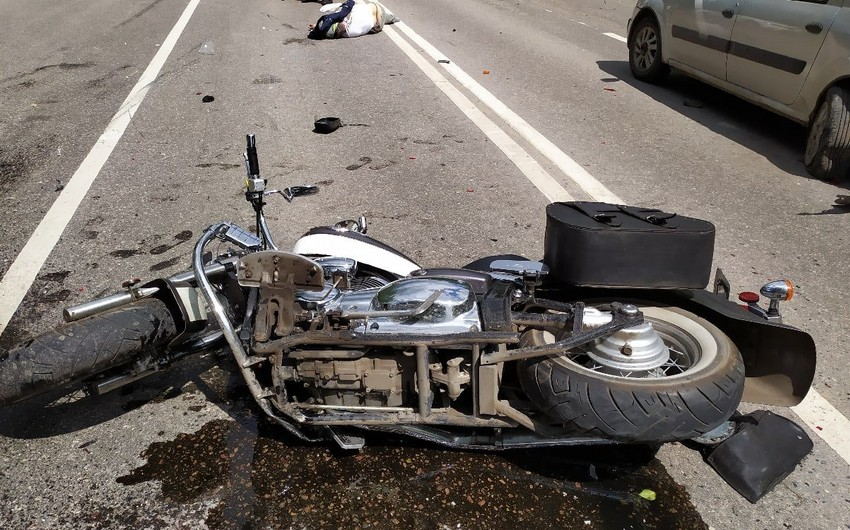 Bakıda motosiklet sürücüsü qəza törətdi