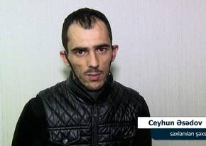 """Qobu və Hökməlidə narkotik satan """"taksi sürücüsü"""" saxlanıldı - VİDEO"""