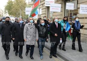 Fransanın Azərbaycandakı səfirliyi qarşısında etiraz aksiyası keçirilib