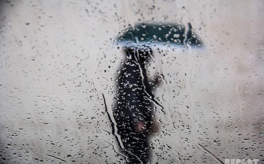 Azərbaycanda yağışlı hava sabah da davam edəcək