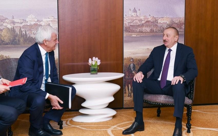 """İlham Əliyev """"Leonardo"""" şirkətinin baş icraçı direktoru ilə görüşdü"""