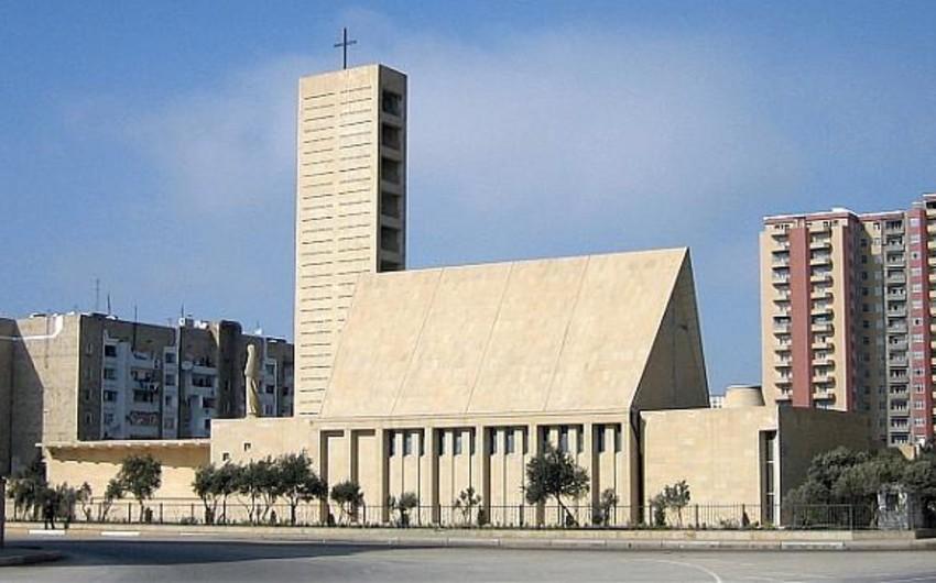 Azərbaycanda yaşayan katoliklər Pasxa bayramını qeyd edib