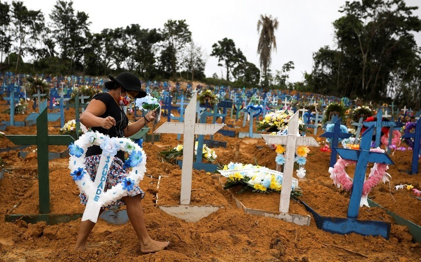 Braziliyada virusdan ölənlərin sayı 217 mini keçdi