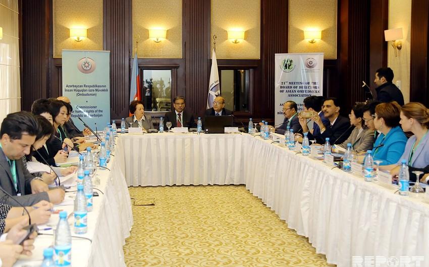 Baku hosts 21st meeting of Board of Directors of the Asian Ombudsmen Association