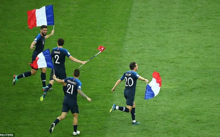 Fransa ikiqat dünya çempionu olub - VİDEO - YENİLƏNİB