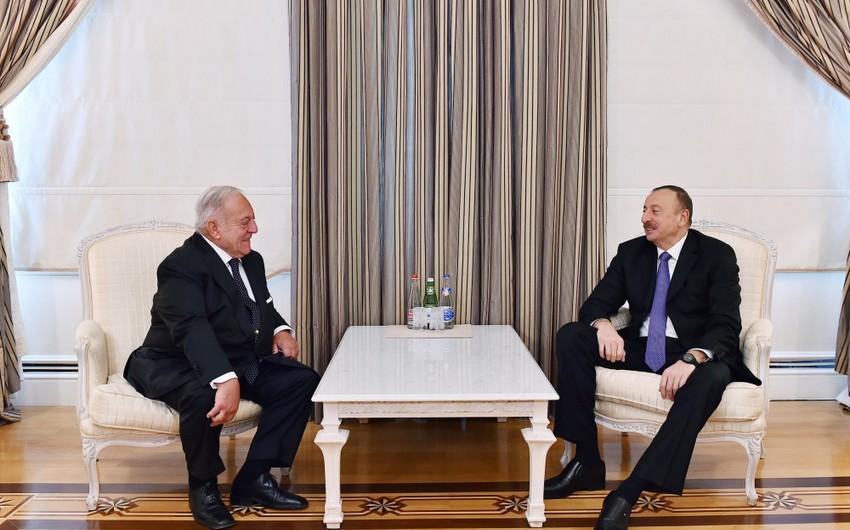 Prezident İlham Əliyev Beynəlxalq Ağır Atletika Federasiyasının prezidentini qəbul edib