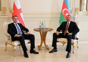 Azerbaijan President holds one-on-one meeting with Georgian PM