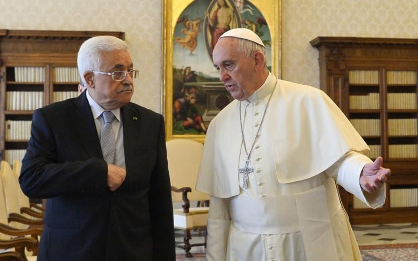 Mahmud Abbas və Roma Papası Vatikanda Fələstin səfirliyinin açılmasını müzakirə ediblər