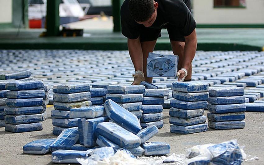 Kolumbiyada 200 milyon dollarlıq kokain partiyası müsadirə olunub