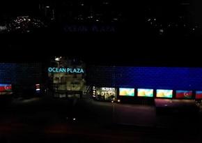 Kyiv's largest shopping mall illuminated with Karabakh is Azerbaijan! slogan