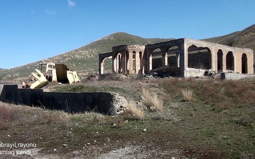 Кадры из села Гумлаг Джебраильского района