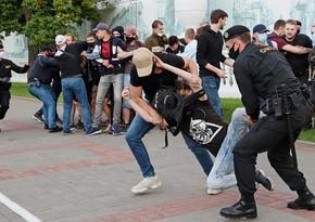 Belarusda saxlanılan aksiyaçıların sayı məlum oldu