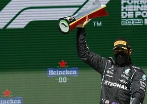 Lüis Hemilton Formula 1 üzrə Portuqaliya Qran-prisinin qalibi olub