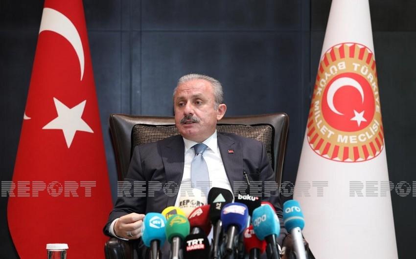 """TBMM sədri: """"Azərbaycanla Türkiyə arasında hərbi əməkdaşlıq istiqamətində də addımlar atılır"""""""