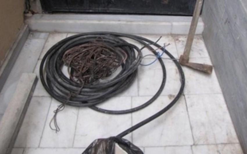 Bakıda MMC-dən elektrik kabeli oğurlayan şəxslər tutulub