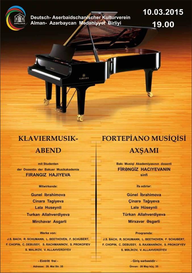 Baku to host evening of piano music