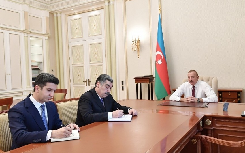President Ilham Aliyev receives new heads of executive power