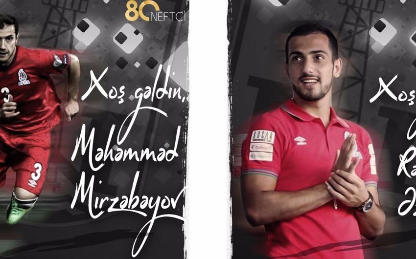 Neftçi klubu 2 oyunçu transfer edib