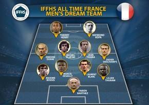 Fransa futbol tarixinin rəmzi komandası açıqlanıb
