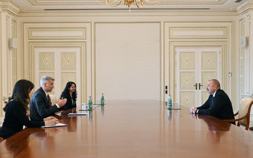 President Ilham Aliyev receives WB Regional Director