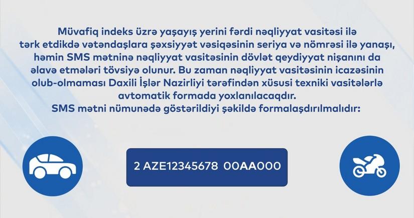 8103 SMS icazə sisteminin fəaliyyəti bu inzibati ərazilərdə davam edəcək
